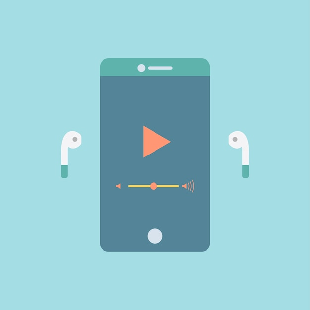 Smartphone screen Free Vector