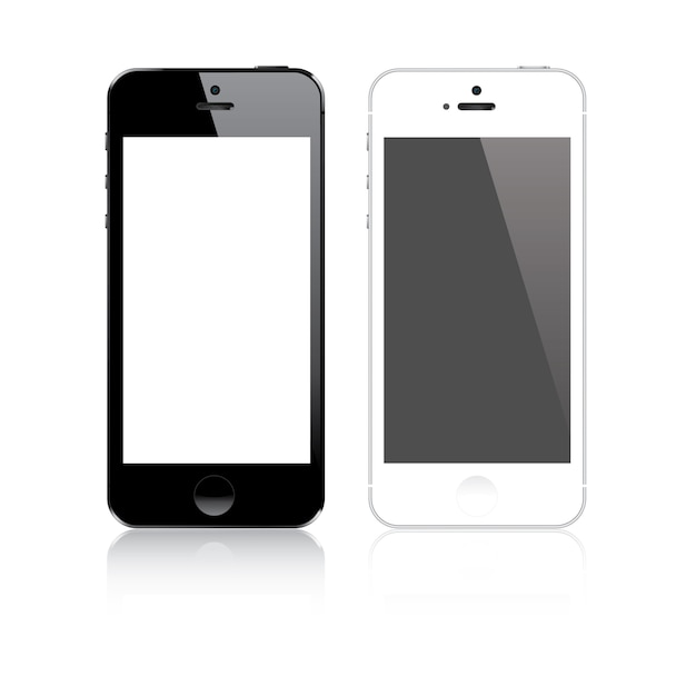 Smartphone similar to iphone Premium Vector