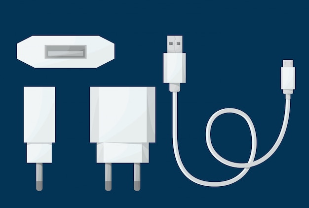 Smartphone usb charger adapter Premium Vector