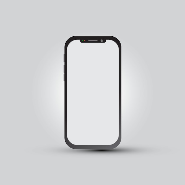 Smartphone with blank screen for app presentation Premium Vector