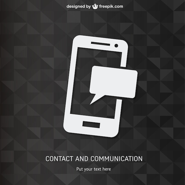 Smartphone with polygonal background Free Vector