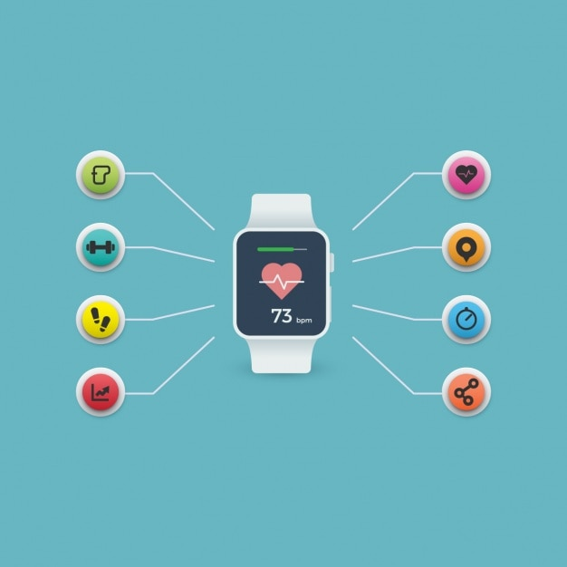 Smartwatch Background Design Vector Free Download