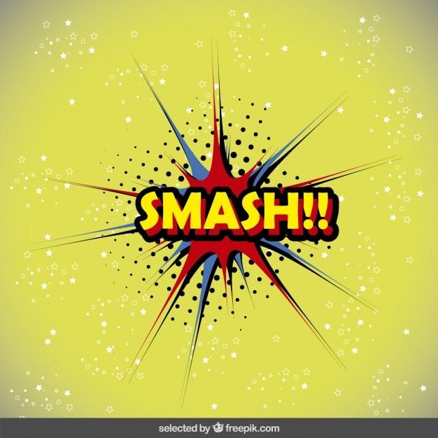 smash speech bubble in pop art style vector free download