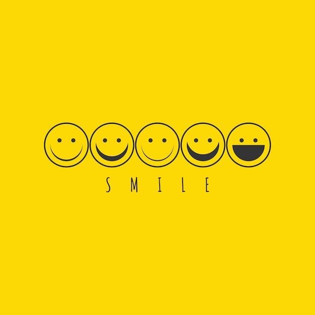 Smile emoticon logo Premium Vector