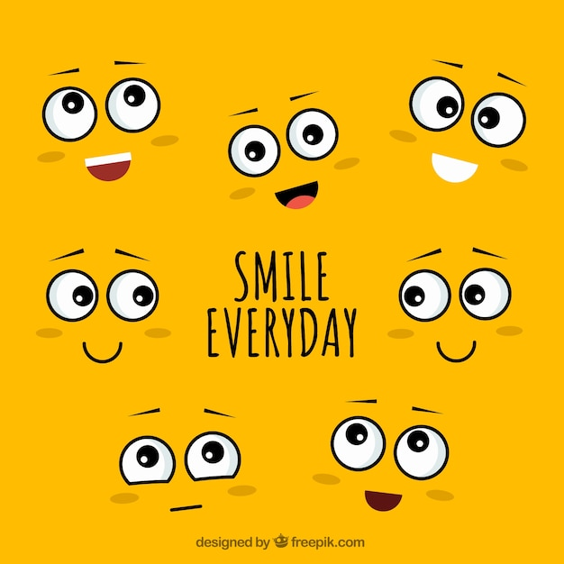 Smile everyday background Free Vector
