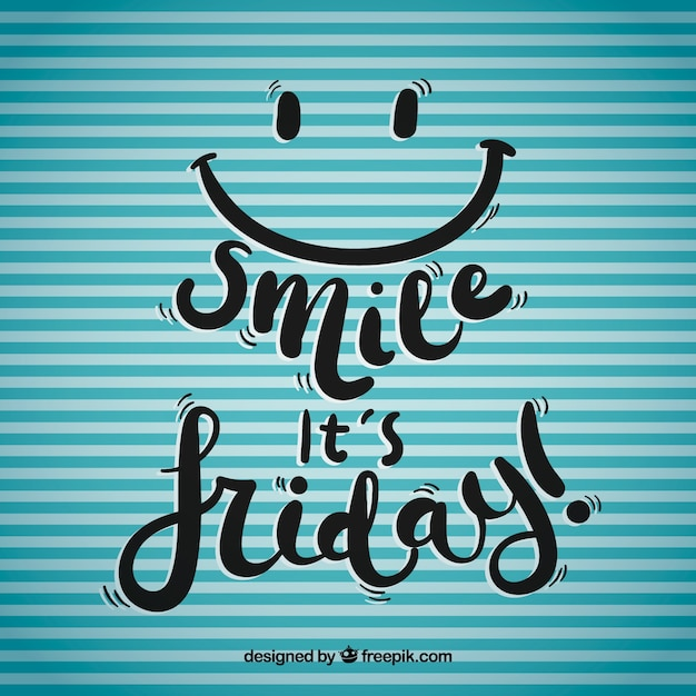 Smile it's friday background Free Vector