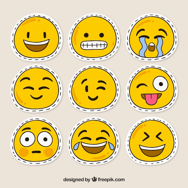 Smiley patches Free Vector