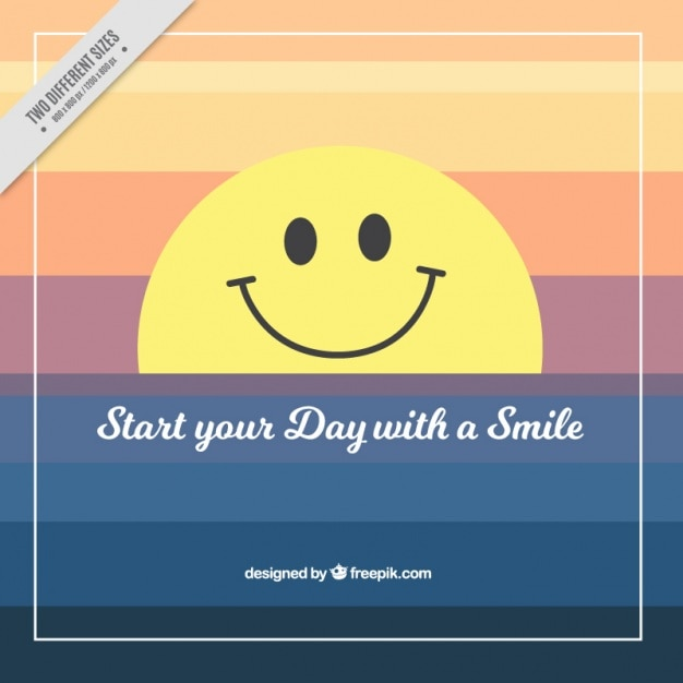 Smiling smiley background and positive phrase