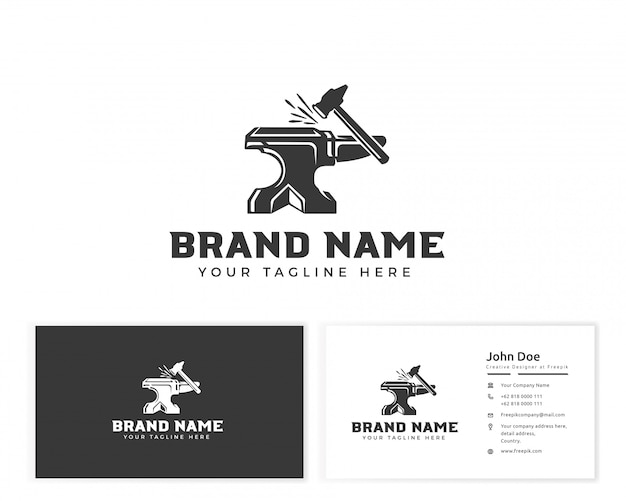 Smith logo with stationery business card Premium Vector