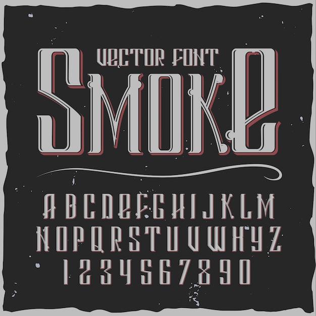 Alfabeto di fumo con stile vintage Vettore gratuito