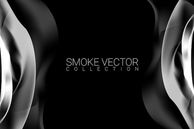 Smoke on black background Free Vector