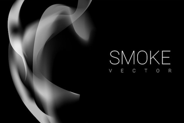 Smoke on black background Free Vector
