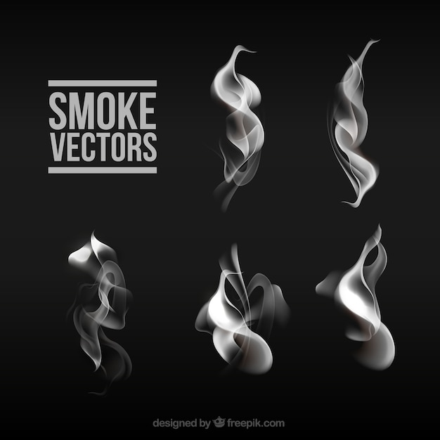 Smoke collection Free Vector
