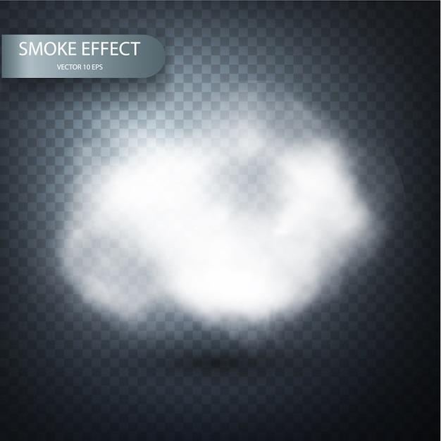 Дым эффект на прозрачном фоне реалистично. Premium векторы