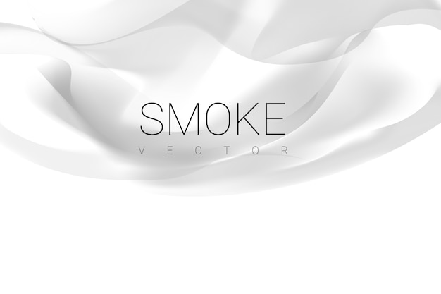 Smoke on white background Free Vector