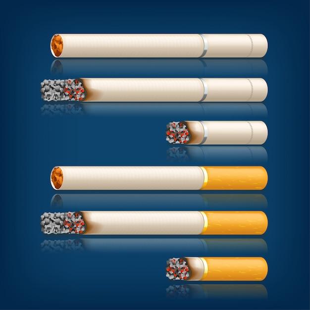 Набор курительных сигарет Premium векторы