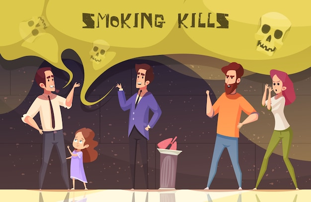 Smoking kills vector illustration Free Vector