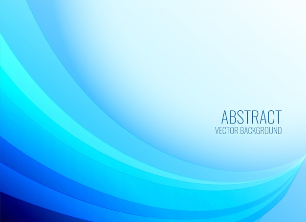 Smooth blue wavy shape background Free Vector