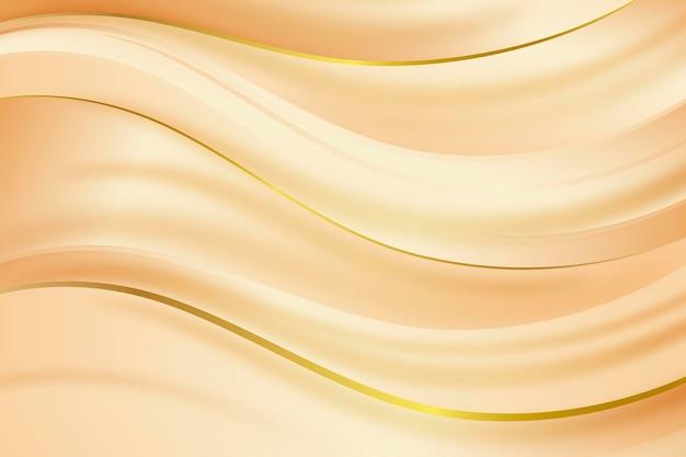 부드러운 황금 물결 배경 무료 벡터