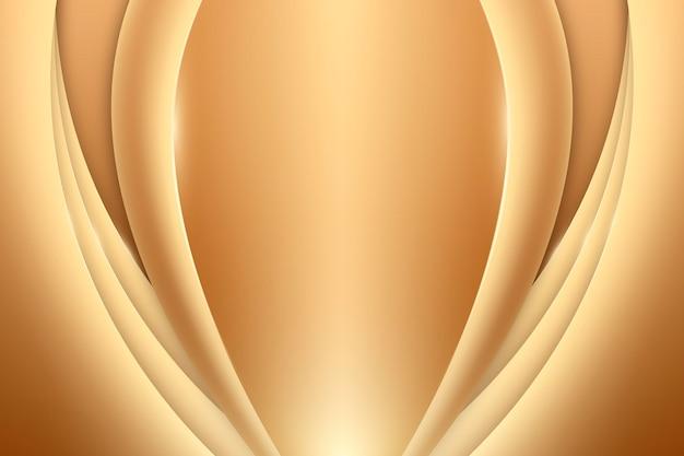 Гладкая золотая волна фон Бесплатные векторы