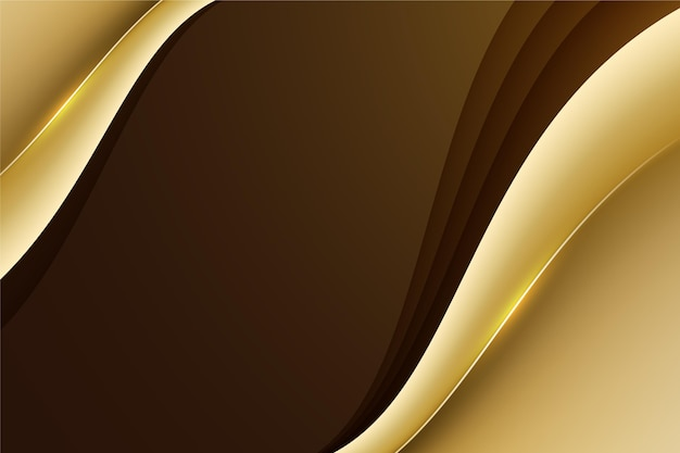 Smooth golden wave background Free Vector