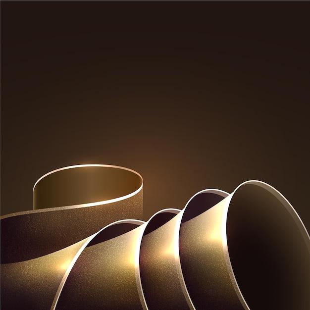 Smooth golden wave background Premium Vector