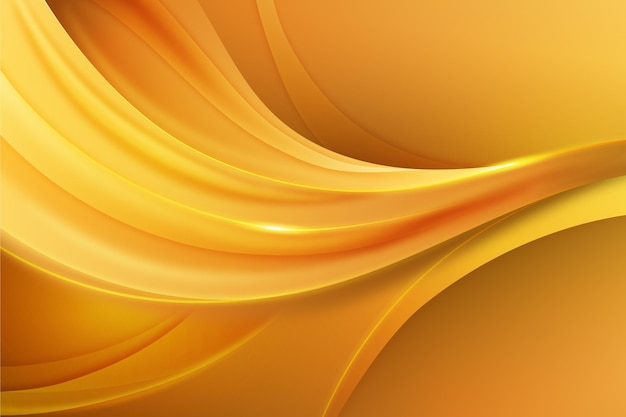 Smooth golden wave background Free Vector | mobile ux design