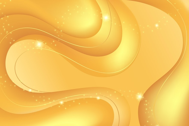 Smooth golden wave wallpaper Free Vector