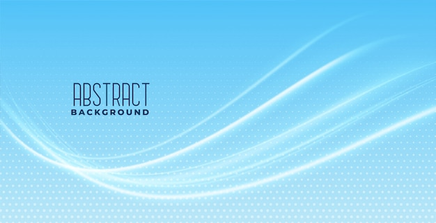 Smooth wave design on blue background Free Vector