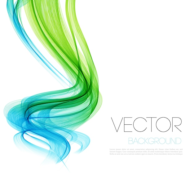 Smooth wave stream line abstract header layout. Premium Vector