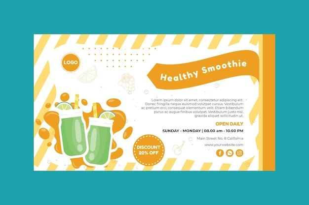 Smoothie banner template Free Vector