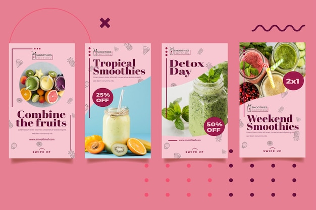 Smoothies Factory Banner Template Free Vector