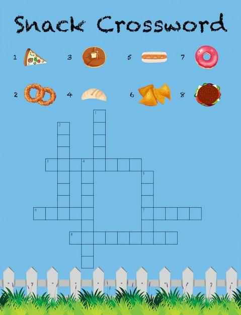 A snack crossword template Premium Vector