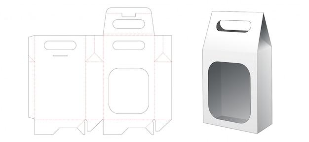 홀더 다이 컷 템플릿과 스낵 포장 가방 프리미엄 벡터