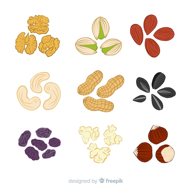 Snacks collection Free Vector