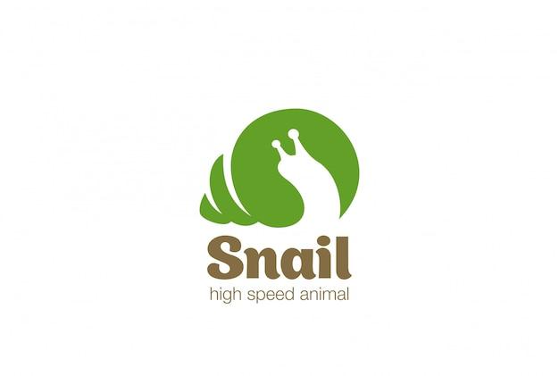 Icona della lumaca logo logo vettoriale. Vettore gratuito