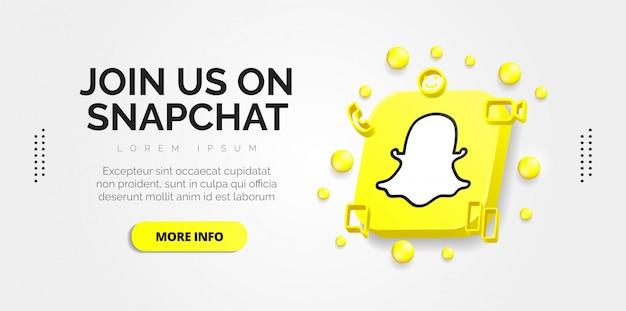 Snapchatソーシャルメディアデザイン Premiumベクター