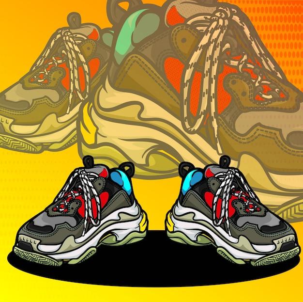 Sneaker Premium Vector