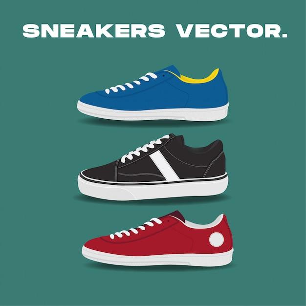Sneakers vector Premium Vector