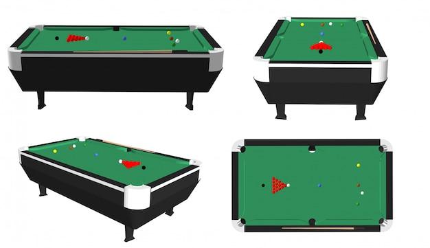 Snooker table Premium Vector