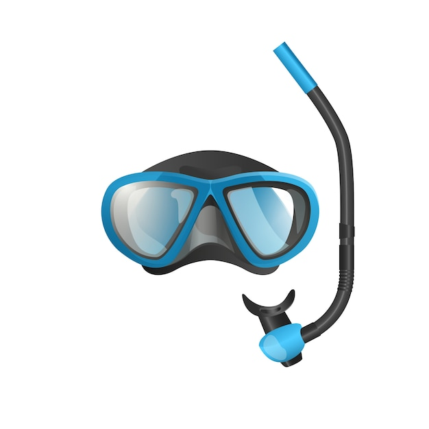 Snorkel mask flat icon Free Vector