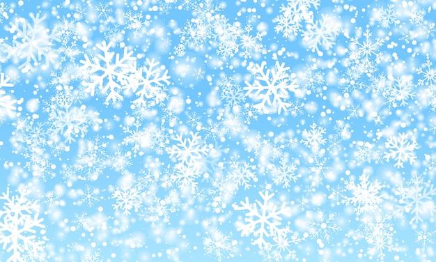 Snow background. winter snowfall. . Premium Vector