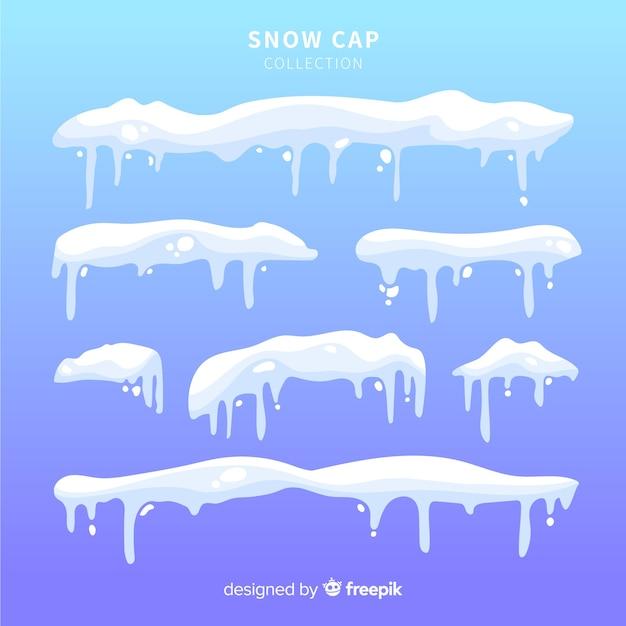 Snow cap collection Free Vector