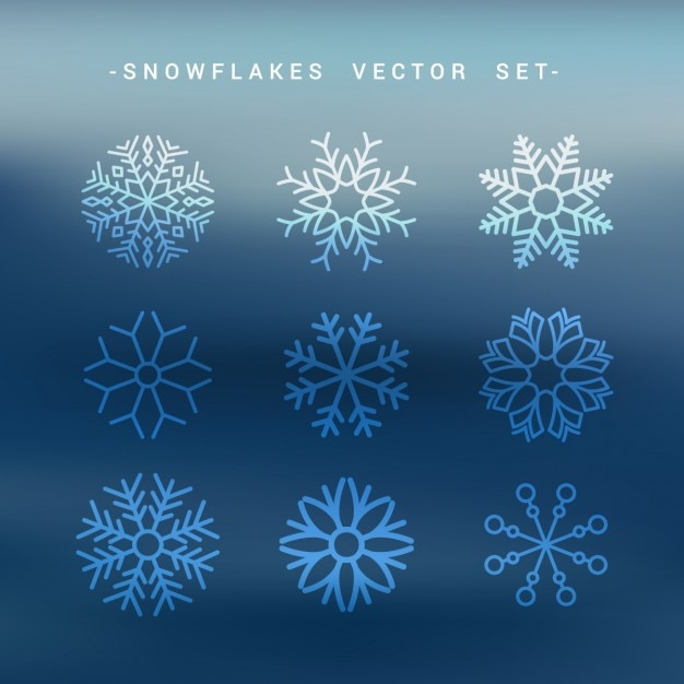 Snow flakes set collection