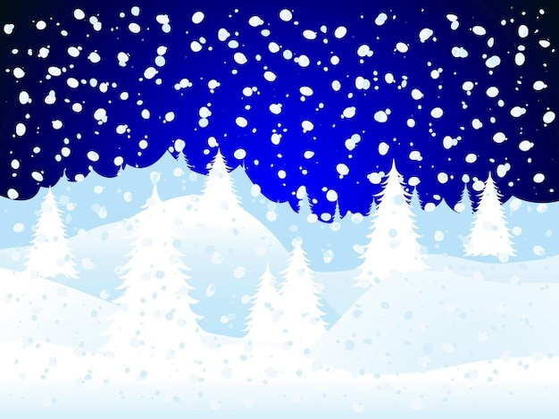 Snow forest trees greeting card