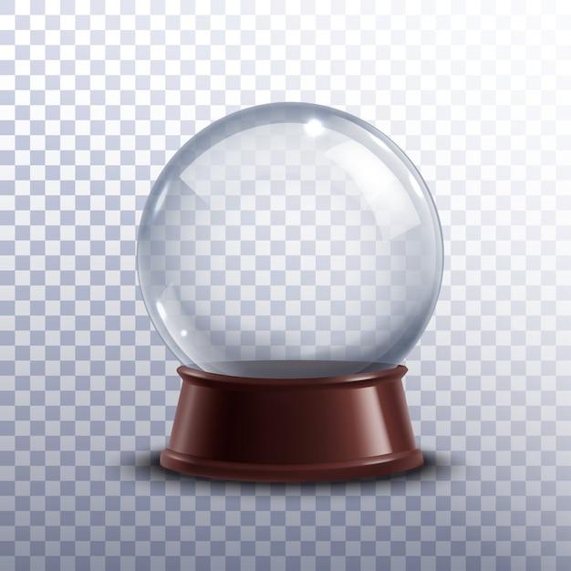 Snow globe transparent Free Vector