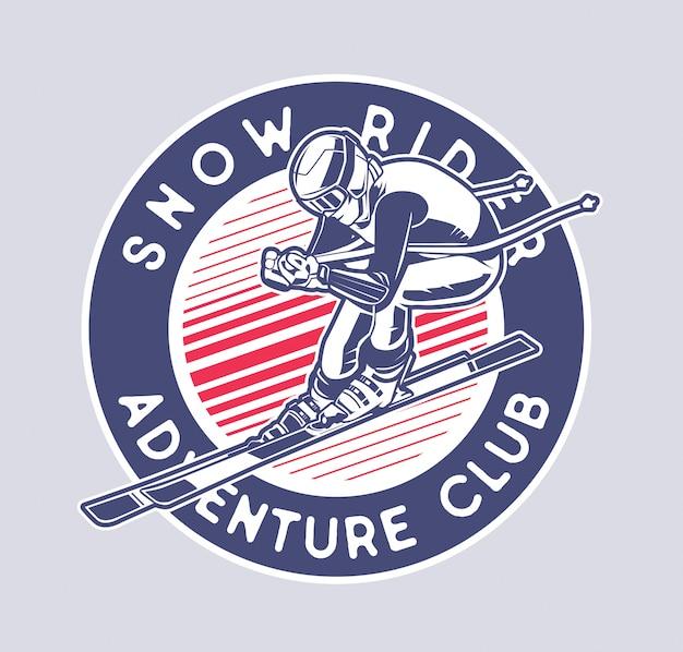 Snow rider Premium Vector
