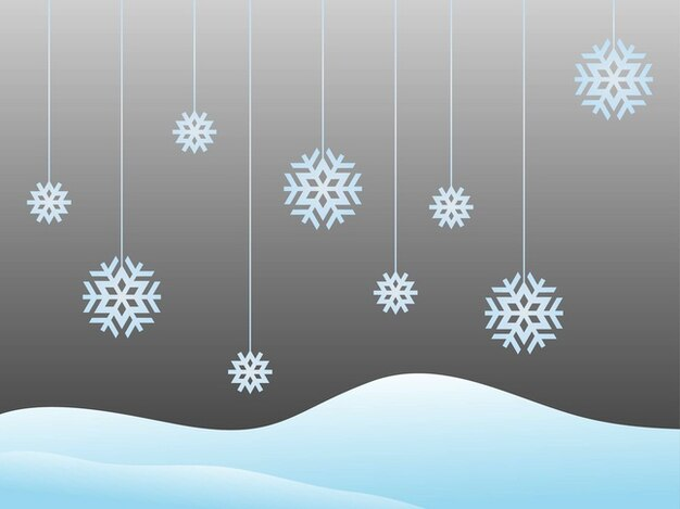 Snow vector decorations greeting card