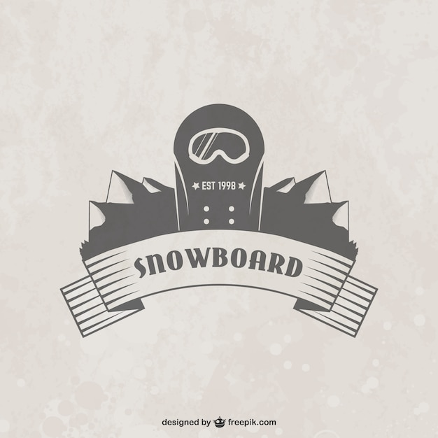 Snowboard badge