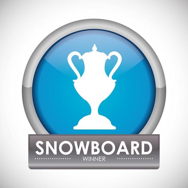 Сноуборд дизайн Premium векторы